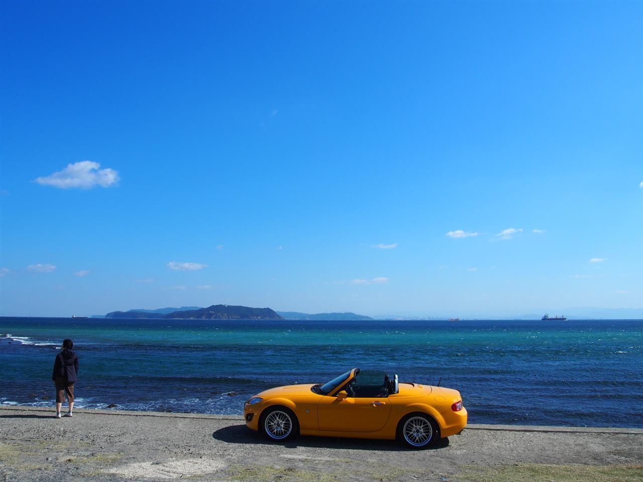 快晴の淡路島サンセットツーリング16