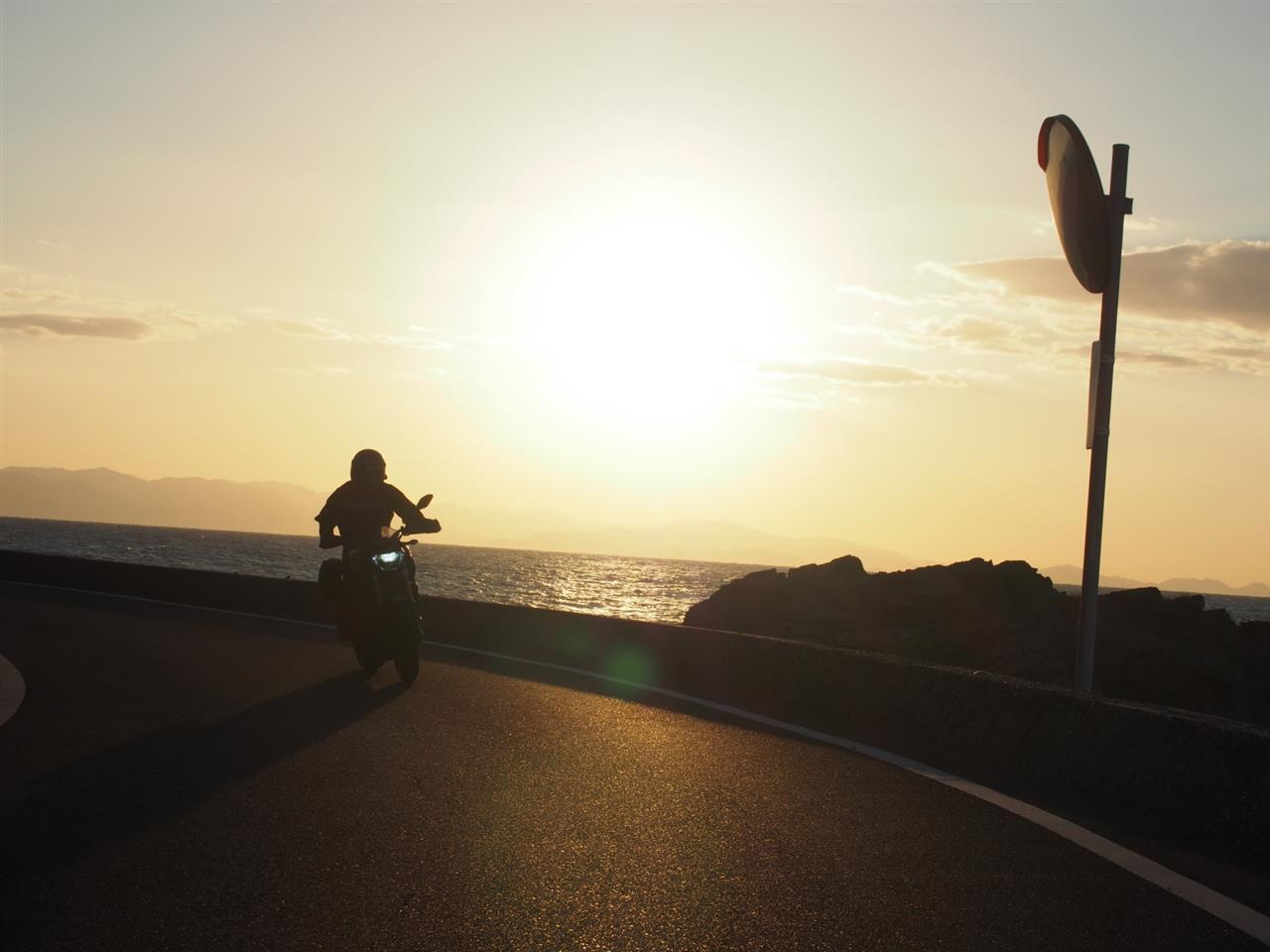 快晴の淡路島サンセットツーリング36