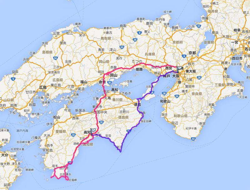 室戸・足摺・四国海沿いドライブ