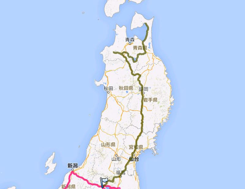 2014GW 東北地方3,300kmの旅 Part1